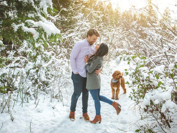 Winter Engagement Session - Twenty Mile House